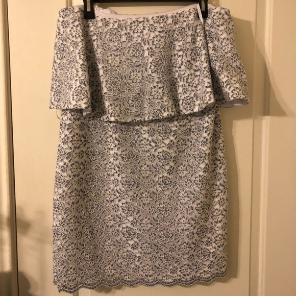 Gianni Bini Dresses & Skirts - Gianni Bini Blue and White Lace Dress for Events